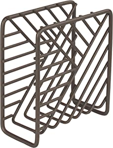 Spectrum Diversified Wright Geometric Dispenser, Vertical Kitchen Tables & Countertops, Dining Table & Kitchen Décor, Stylish Upright Napkin Holder, Bronze
