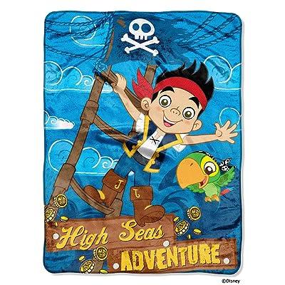 "Disney\'s Jake & The Neverland Pirates \""Hi Seas Pirate\"" Micro Raschel Throw - 46\""x60\"": Home & Kitchen [5Bkhe1403196]"