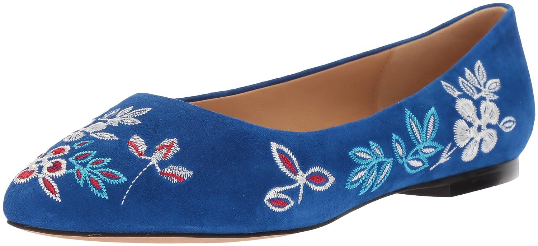 Trotters Women's Estee Embroidery Ballet Flat B073C28P6R 9 W US|Blue
