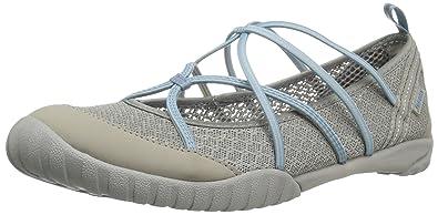 55fef9bebda1 JSport by Jambu Women s Radiance - Water Ready Walking Shoe Light  Grey Stone Blue 6