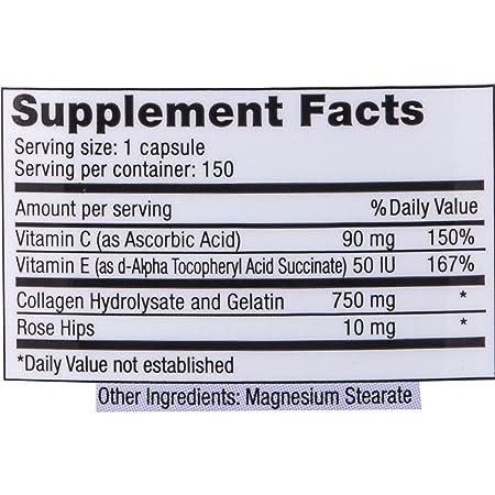 Amazon.com : Sanar Naturals Collagen Hydrolysate Type 1 Anti Wrinkle Formula, 150 Capsules - Colageno Hidrolizado, Anti Arrugas, Gluten Free, Healthy Hair, ...