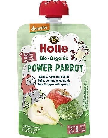Holle Smoothie Power Parrot Pera, Manzana Y Espinacas (+6 Meses) 100 g - Pack de 12: Amazon.es: Alimentación y bebidas