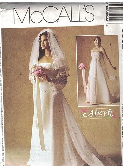 Amazon Com 3502 Mccalls Sewing Pattern Uncut Misses Wedding Dress