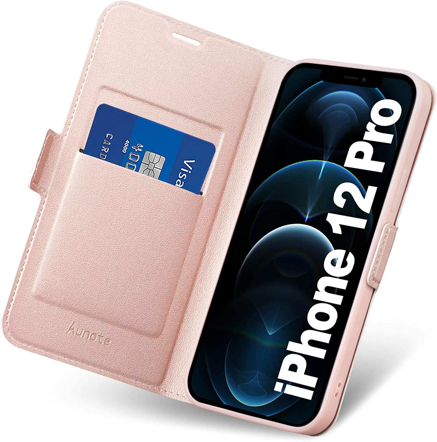 Iphone 12 Pro Case Wallet Slim Iphone 12 Pro Case With Card Holder Iphone 12 Pro Folio Folding Case Iphone 12 Pro Phone Cases Pu Leather Full Protective Flip Cover For Apple