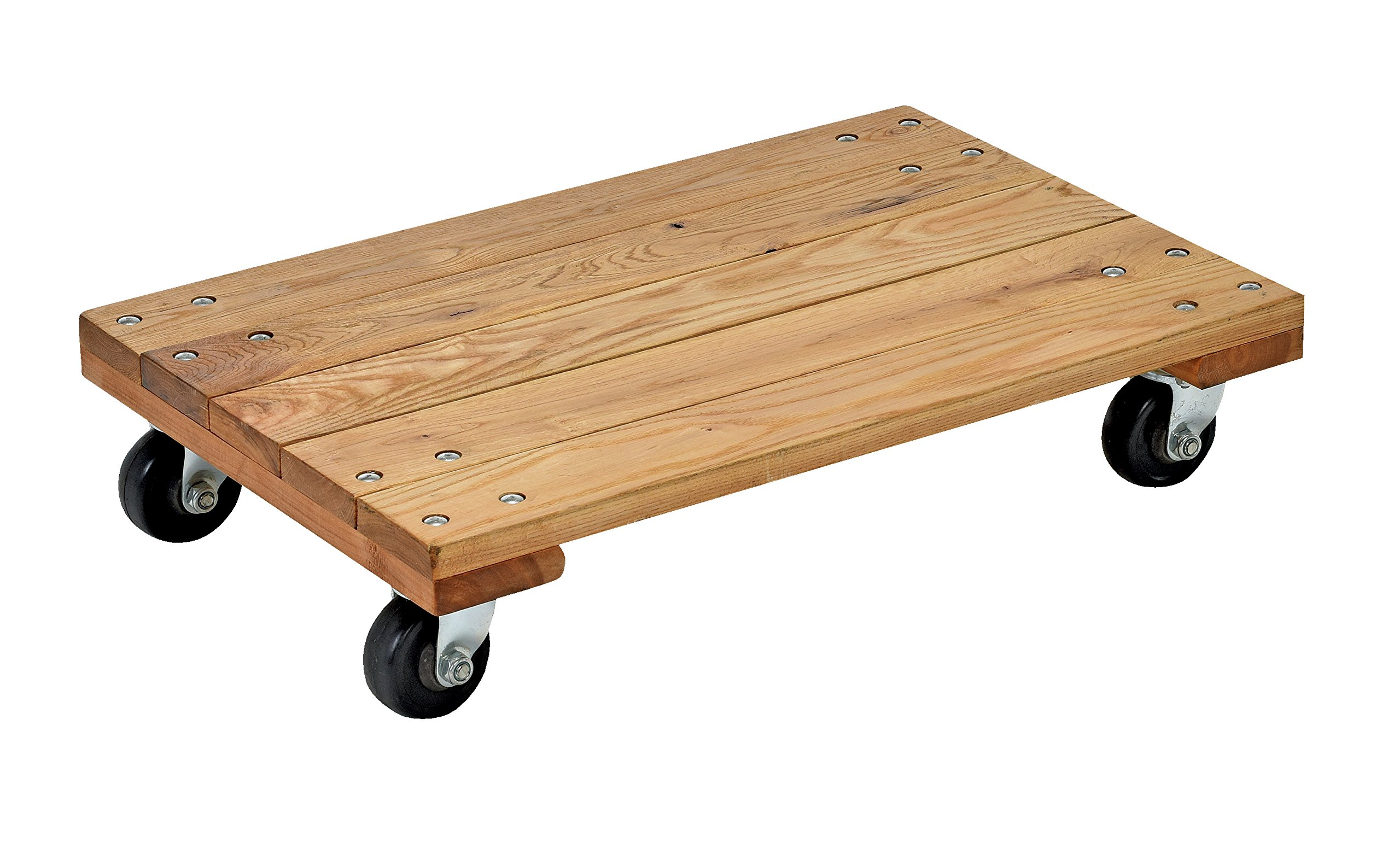 Vestil HDOS-1624-9-E Hardwood Dolly with Solid Deck Econ, 900 lb. Capacity, 16'' x 24''