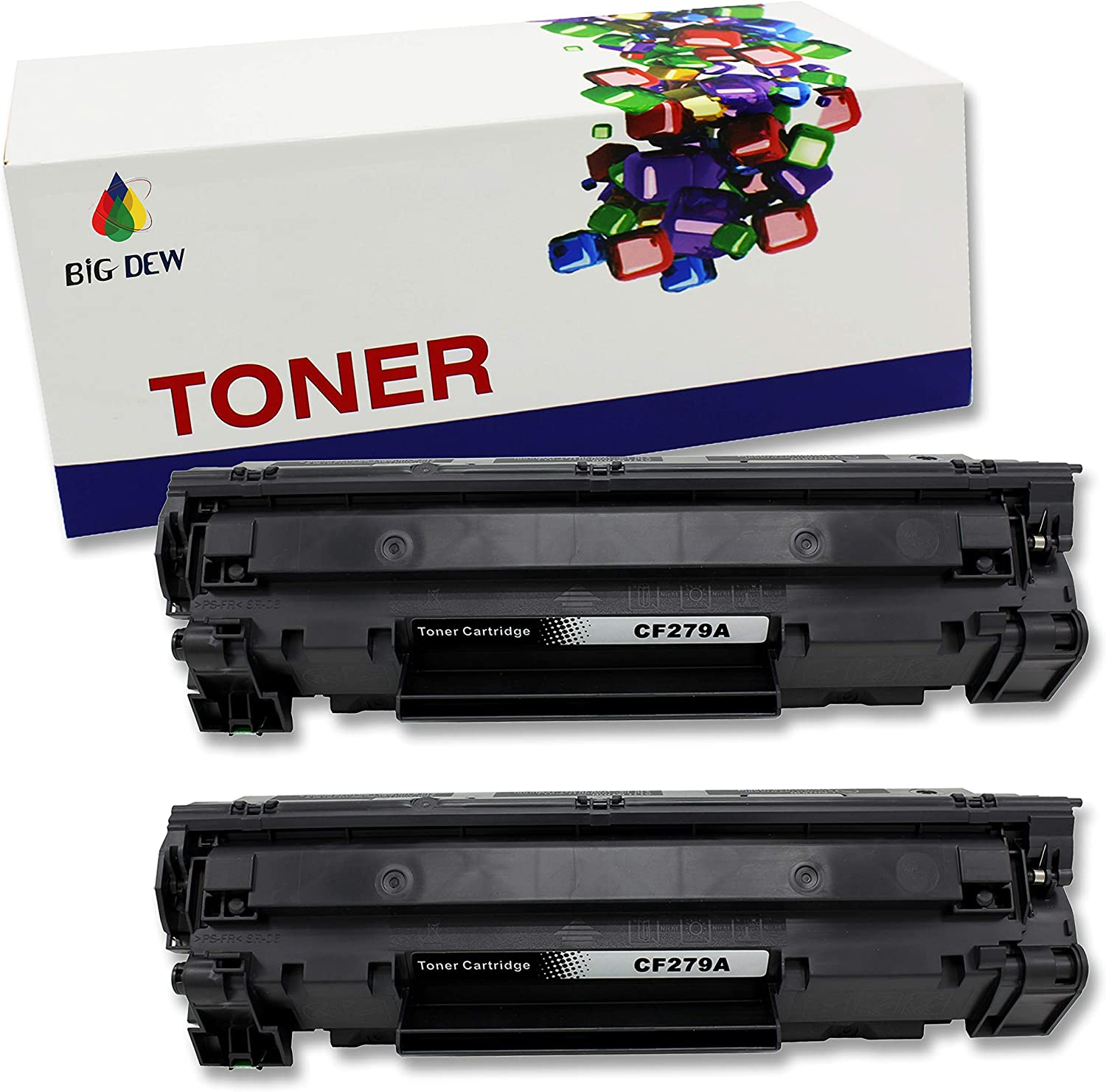 Big Dew Compatible Toner Cartridge Replacement for HP CF279A 79A Toner Cartridge for Laserjet Pro M12a, M12w, MFP M26a, M26nw Printer(2-Pack)