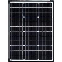 enjoysolar® Monokristallin 60 W panel solar con tecnología de celdas PERC 12 V marco negro