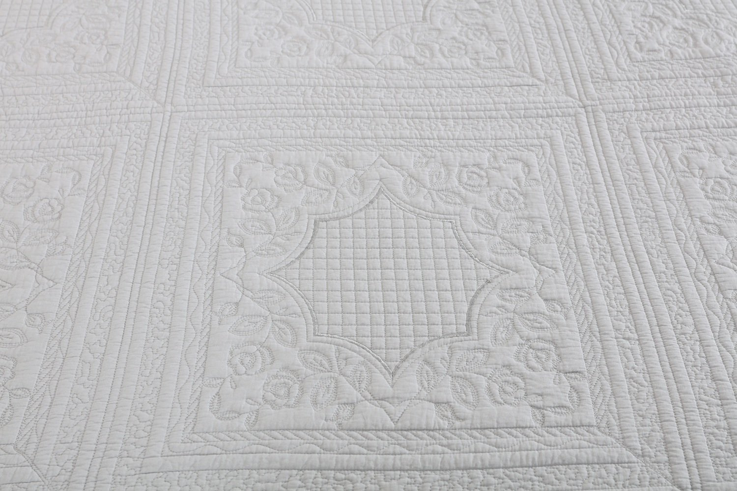 Unimall super king size quilted bedspread cotton patchwrok