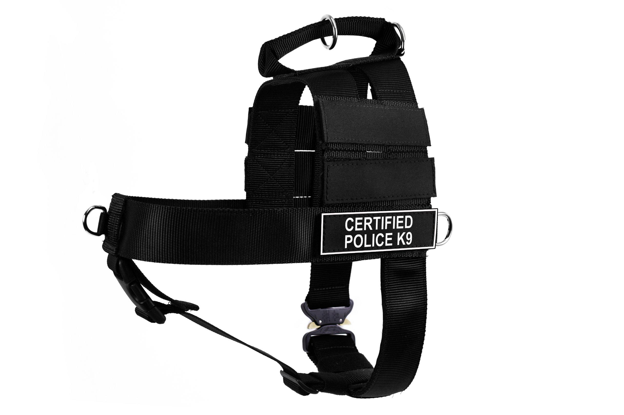 Dean & Tyler DT Cobra Certified Police K9 No Pull Harness, Medium, Black