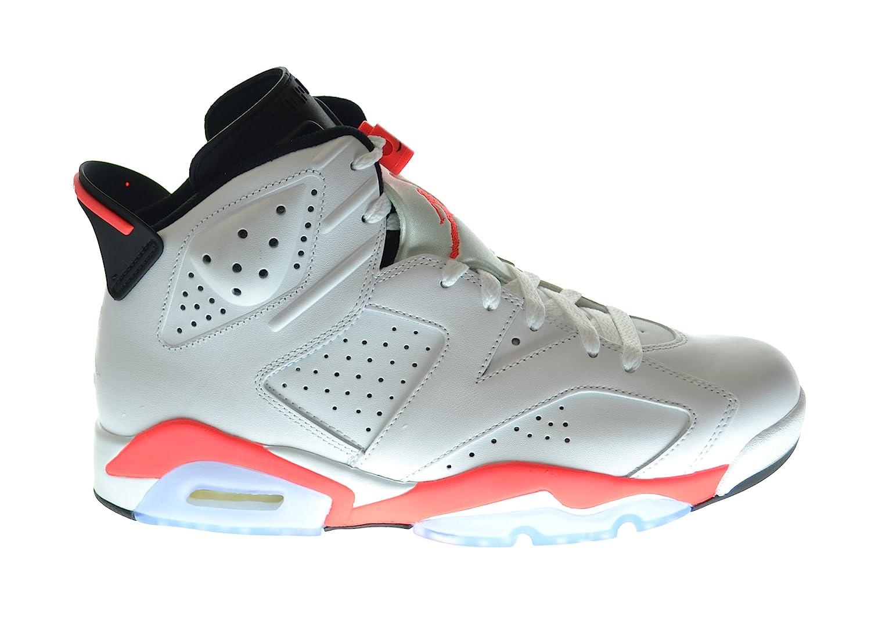 super popular 12988 f32ef Amazon.com   Jordan Air 6 Retro Men s Basketball Shoes White Infrared-Black  384664-123 (12 D(M) US)   Basketball