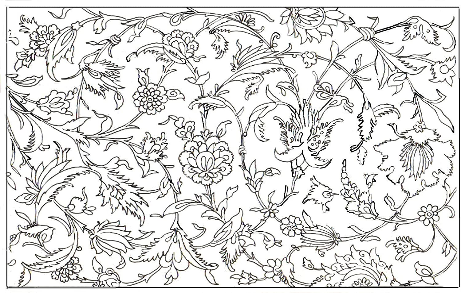 Adult Coloring Placemats -Wildflower Design Se t of 4 Now Available with Free Shipping on Prime