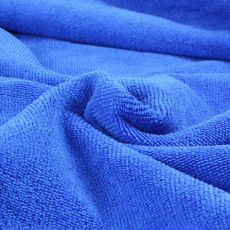 Blau Belmalia 2 Mikrofaser Hand-T/ücher XXL sehr saugf/ähig und schnell-trocknend 180 x 75 cm Gr/ün