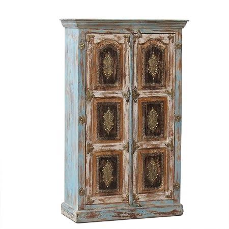 Schrank Kchenschrank Wohnzimmerschrank Antik 150 Cm Retro Wandschrank Massiv Holz Palisander Amazonde Kche Haushalt