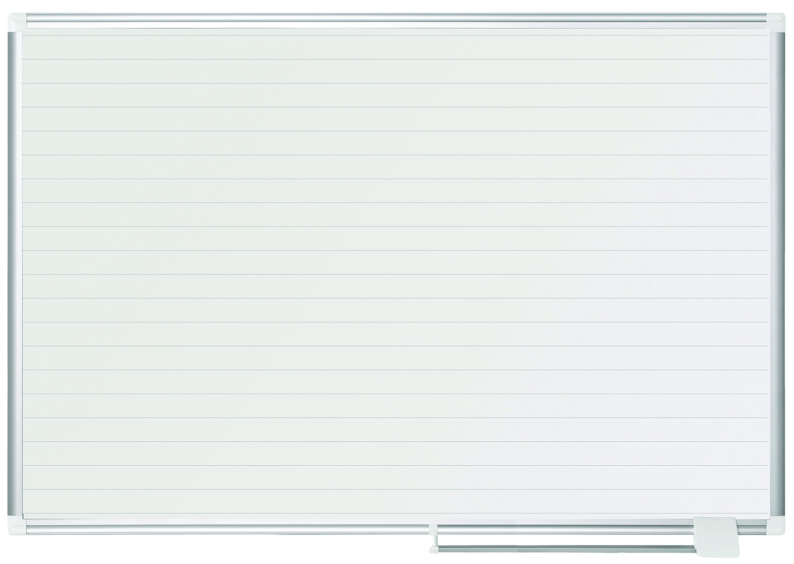MasterVision Planning Board Magnetic Ruled Dry Erase, 36'' x 48'', Whiteboard with Aluminum Frame
