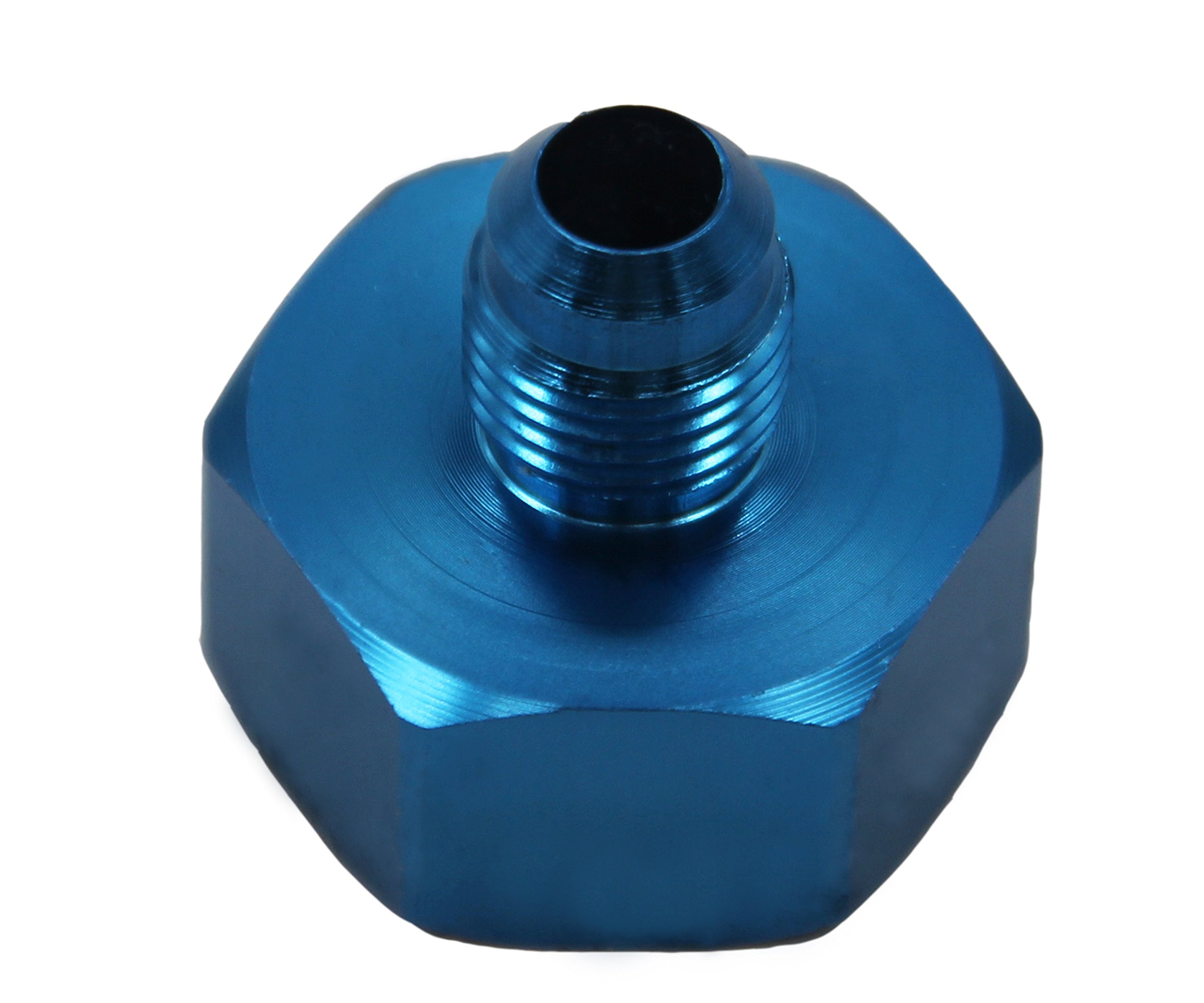 Nitrous Bottle Nut Adapter With Washer (Blue, 4AN)