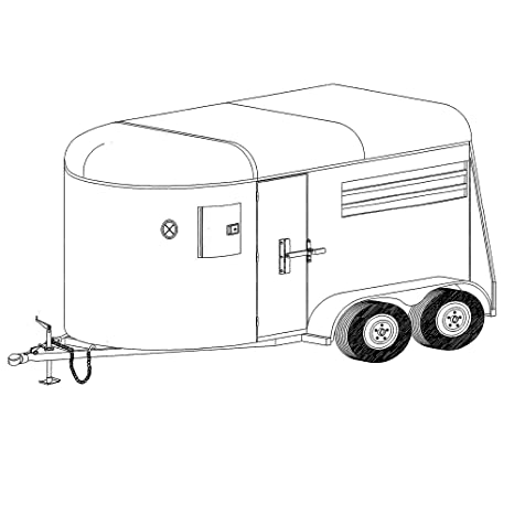 Amazon 11 2 x 6 two horse trailer plans blueprints model 11 2quot x 6 two horse trailer plans blueprints malvernweather Image collections