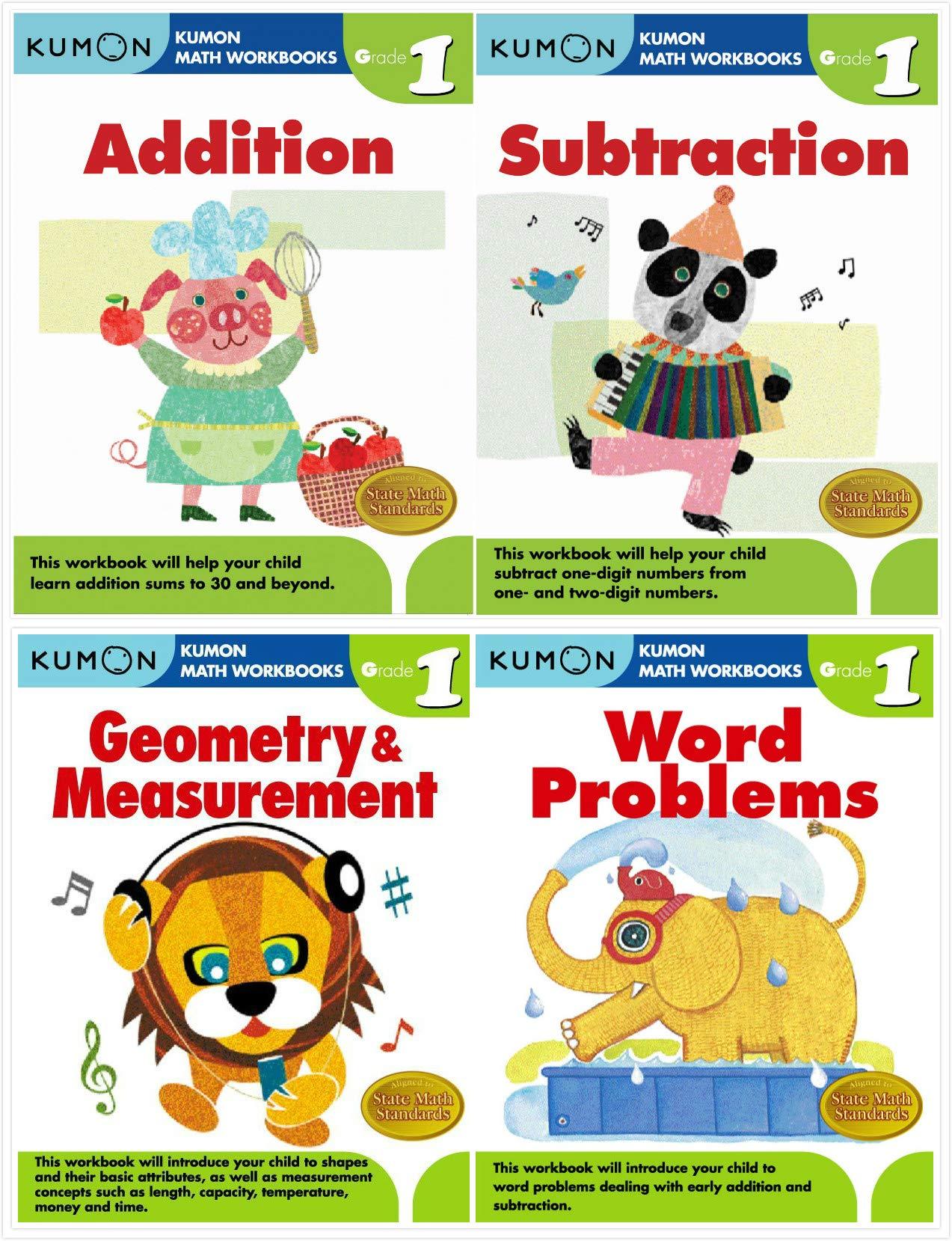 Kumon Math Workbooks Grade 1 Complete SET (4 Books ...