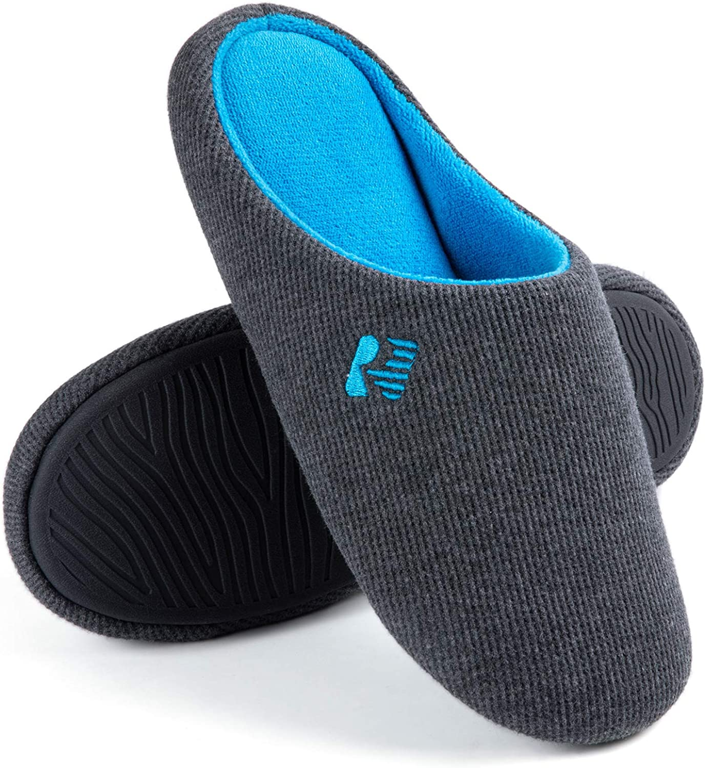 Amazon.com | RockDove Men's Two-Tone Lightweight Slip-On with Memory Foam |  Slippers