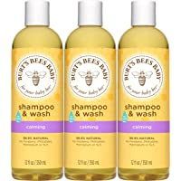 Burt's Bees Baby Shampoo & Wash, Calming Tear Free Baby Soap - 12 Fl Oz Bottle (Pack of 3)