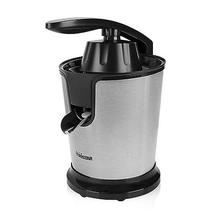 Tristar CP-3002 - Exprimidor, 85 W, motor silencioso, palanca de presión única, color plata y negro