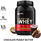 Optimum Nutrition Gold Standard 100% Whey Protein Powder, Chocolate Peanut Butter, 2 Pound