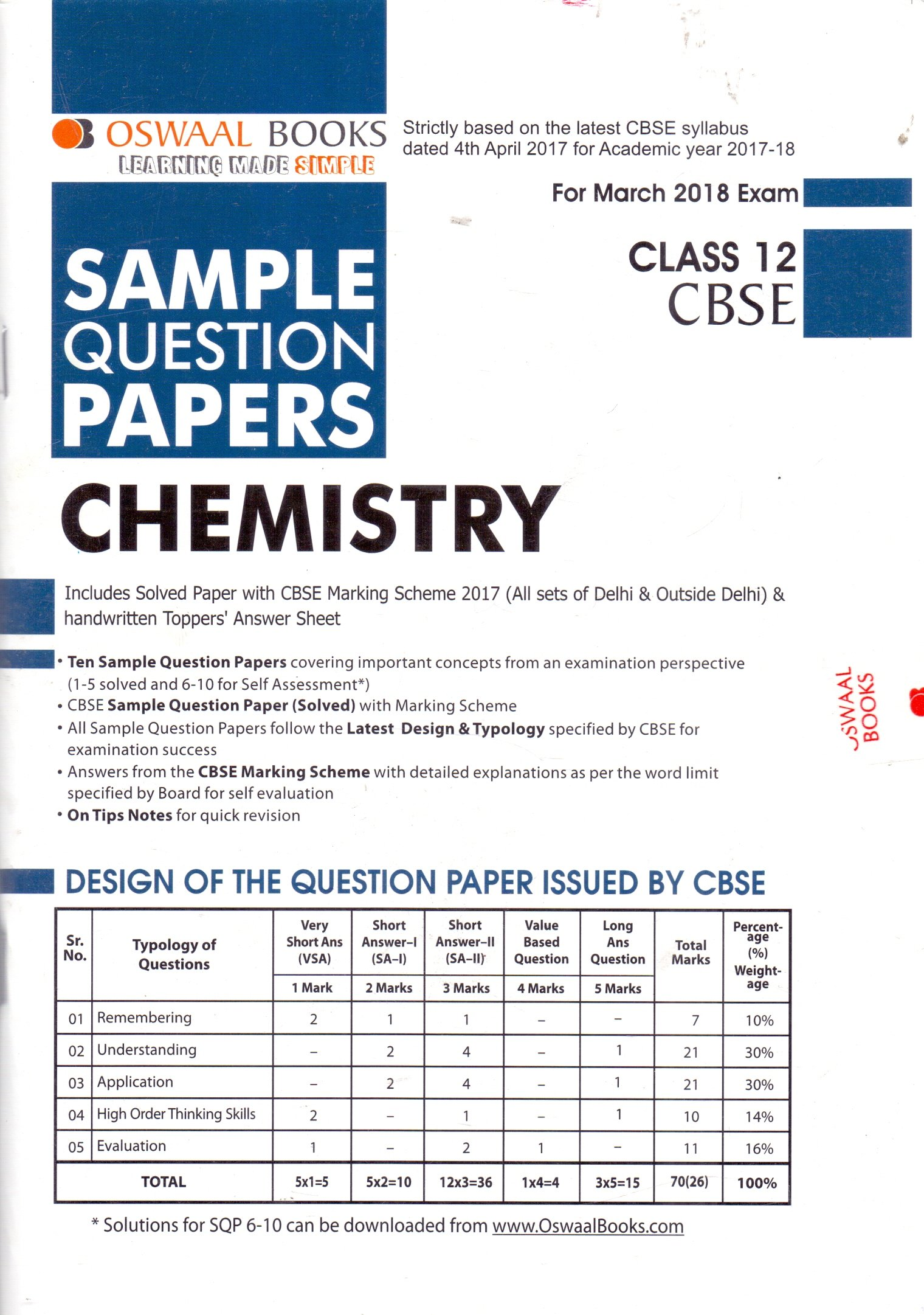 Oswaal cbse sample question papers for class 12 physics mar2018 oswaal cbse sample question papers for class 12 chemistry mar2018 exam stopboris Images
