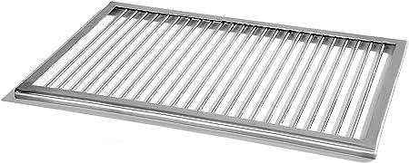 Acier inoxydable grille 53 x 38 cm + 2 Poignées pour