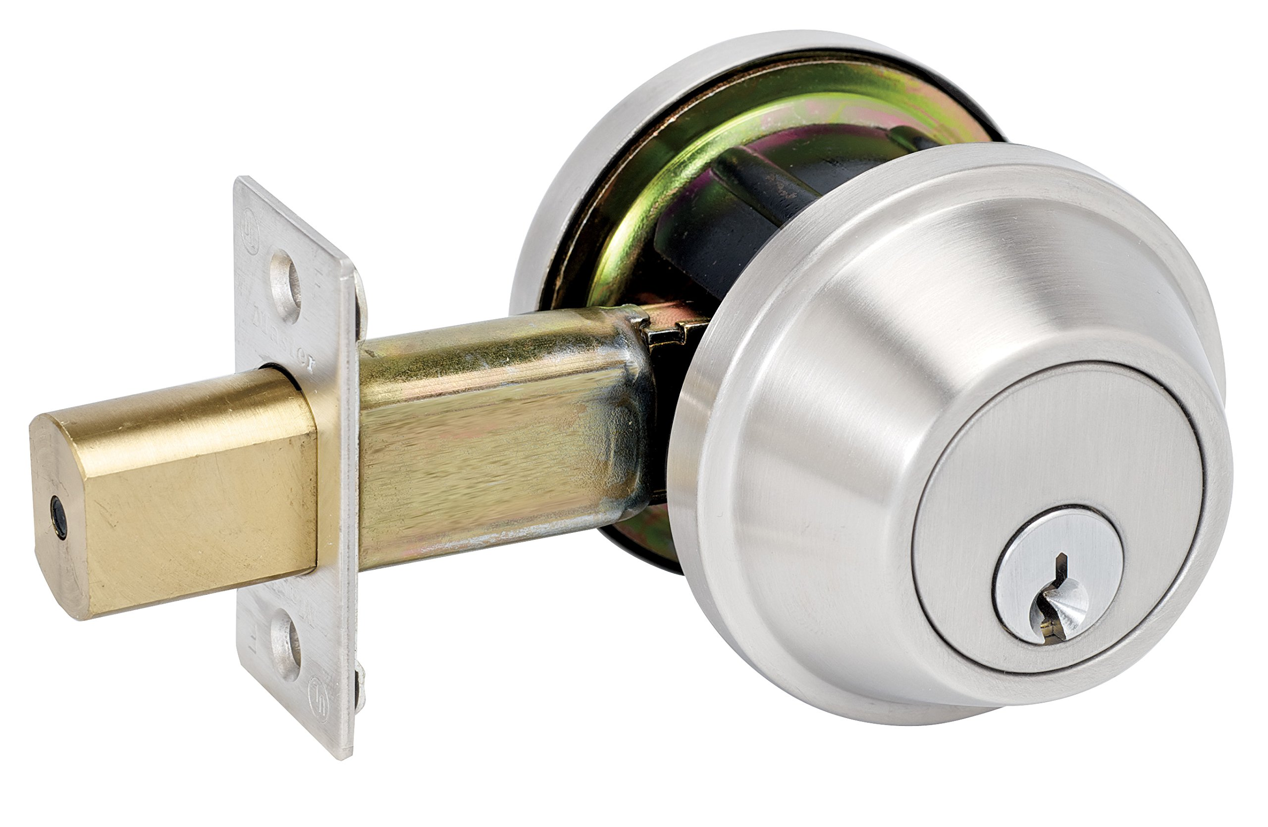 Master Lock DSCHDD32D Heavy Duty Double Cylinder, Grade 2 Commercial Deadbolt with Bump Stop, Brushed Chrome Finish