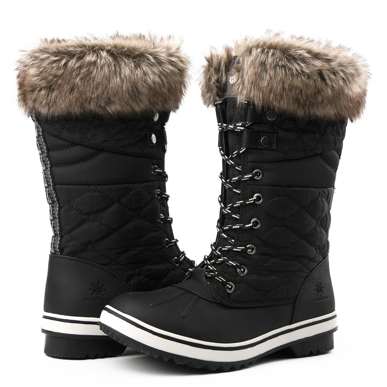 Globalwin Women's 1730 Waterproof Winter Boots (10 D(M) US Women's, 1732Black)
