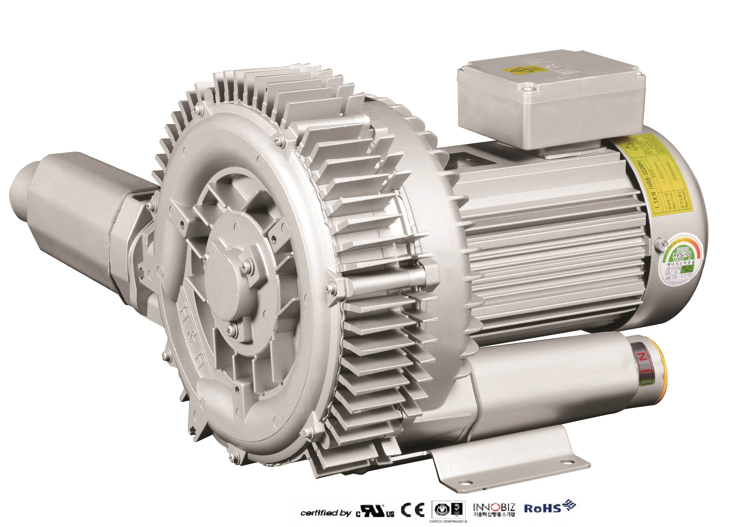 Pacific Regenerative Blower PB-302 (HRB-302), Ring, Side channel, Vacuum Pressure Blowers