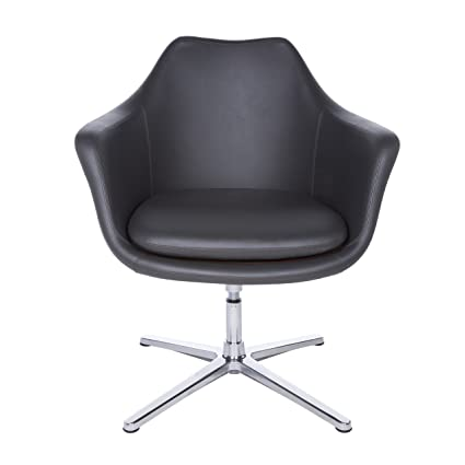 Amazon.com: Euro Style 90450DKGRY Giovanna Lounge Chair, Dark Gray: Kitchen  U0026 Dining