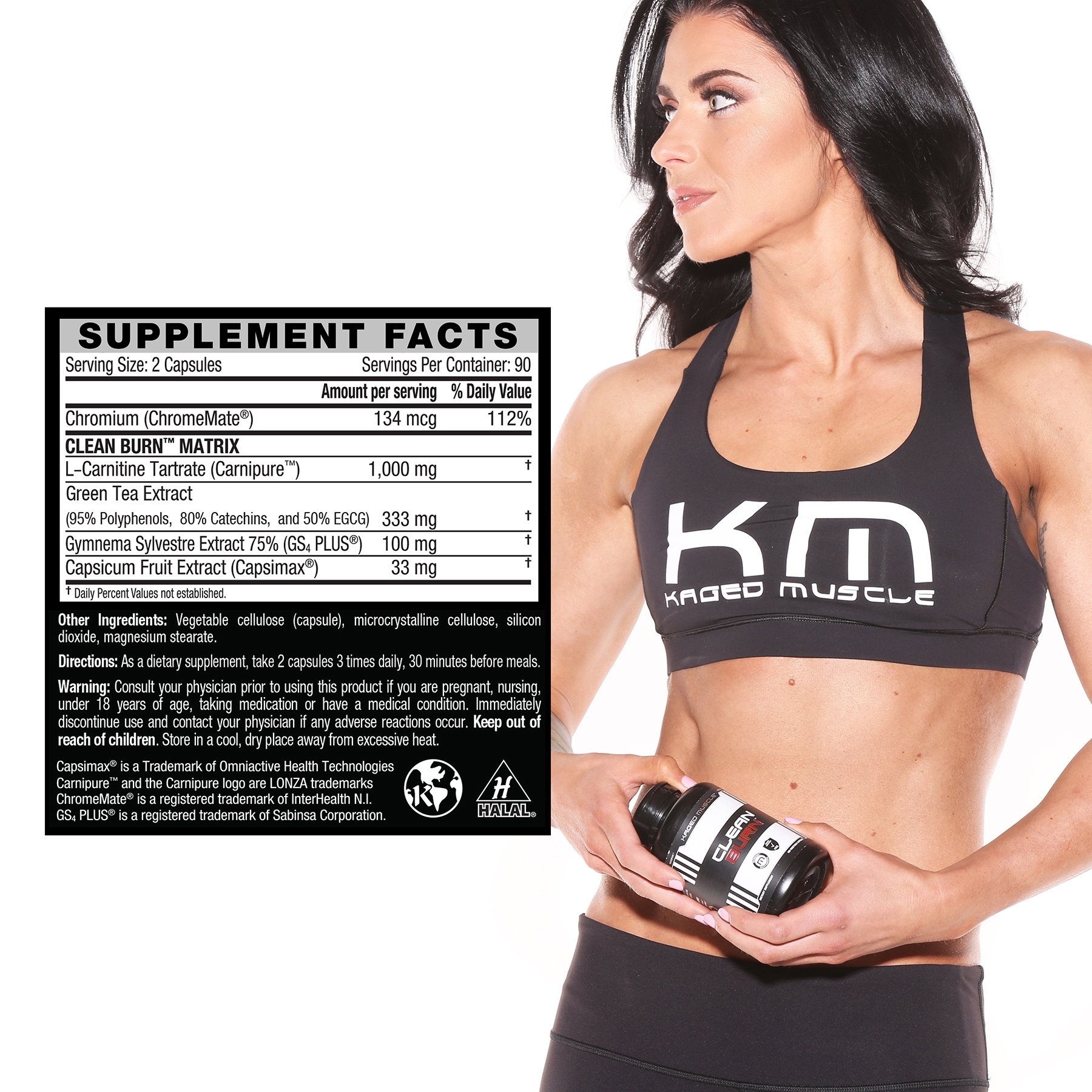 Kaged Muscle, Clean Burn Stimulant-Free Weight Loss Supplement for Men & Women, 180 Veggie Diet Pills by Kaged Muscle (Image #5)