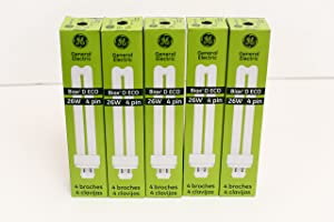(Case of 50) GE 97612 F26DBX/835/ECO4P 26-Watt 3500K 4-Pin Double Biax Compact Fluorescent Lamp