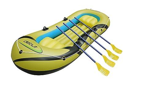 Debut Bote barca inflable - Goma - Amarillo - 3/4 personas ...