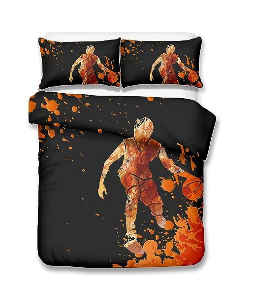 Gouache jugador de baloncesto 3d juego de ropa de cama de funda ...