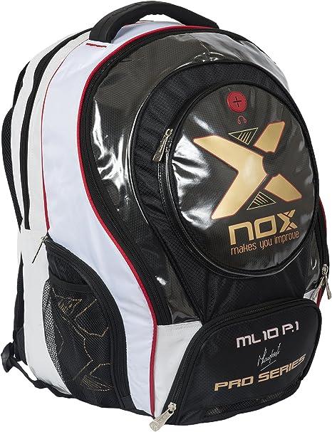 Nox Ml10 Pro P.1 Mochila de Pádel, Unisex Adulto, Blanco, Talla ...