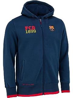 FC Barcelona - Sudadera oficial con capucha y cierre de ...