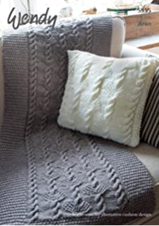 Wendy Aran Throw And Cushion Knitting Pattern / Leaflet 5955 Pictures Gallery