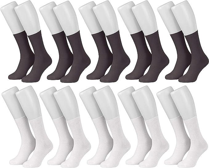 Tobeni 10 Pares de Calcetines Hombre Negocios 100% Algodón: Amazon.es: Ropa y accesorios