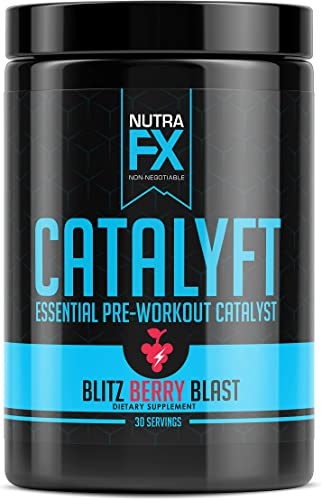 FX SUPPS Catalyft Pre-Workout Powder Blitz Berry Blast Essential Dietary Supplement with Yohimbe, L-Citrulline, and Beta-Alanine for Energy, Pump, and Focus, 30 Servings