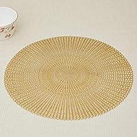 Home Centre Cinder-Spiral Textured Placemat - Gold