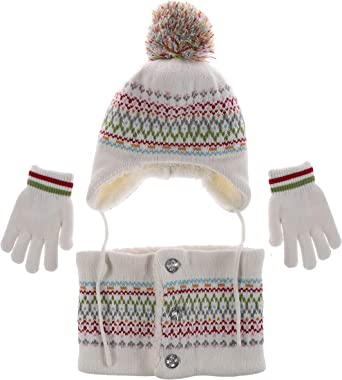 GIRLS KIDS KNITTED warm winter hat size 6-12 Years NEW TIE UP.