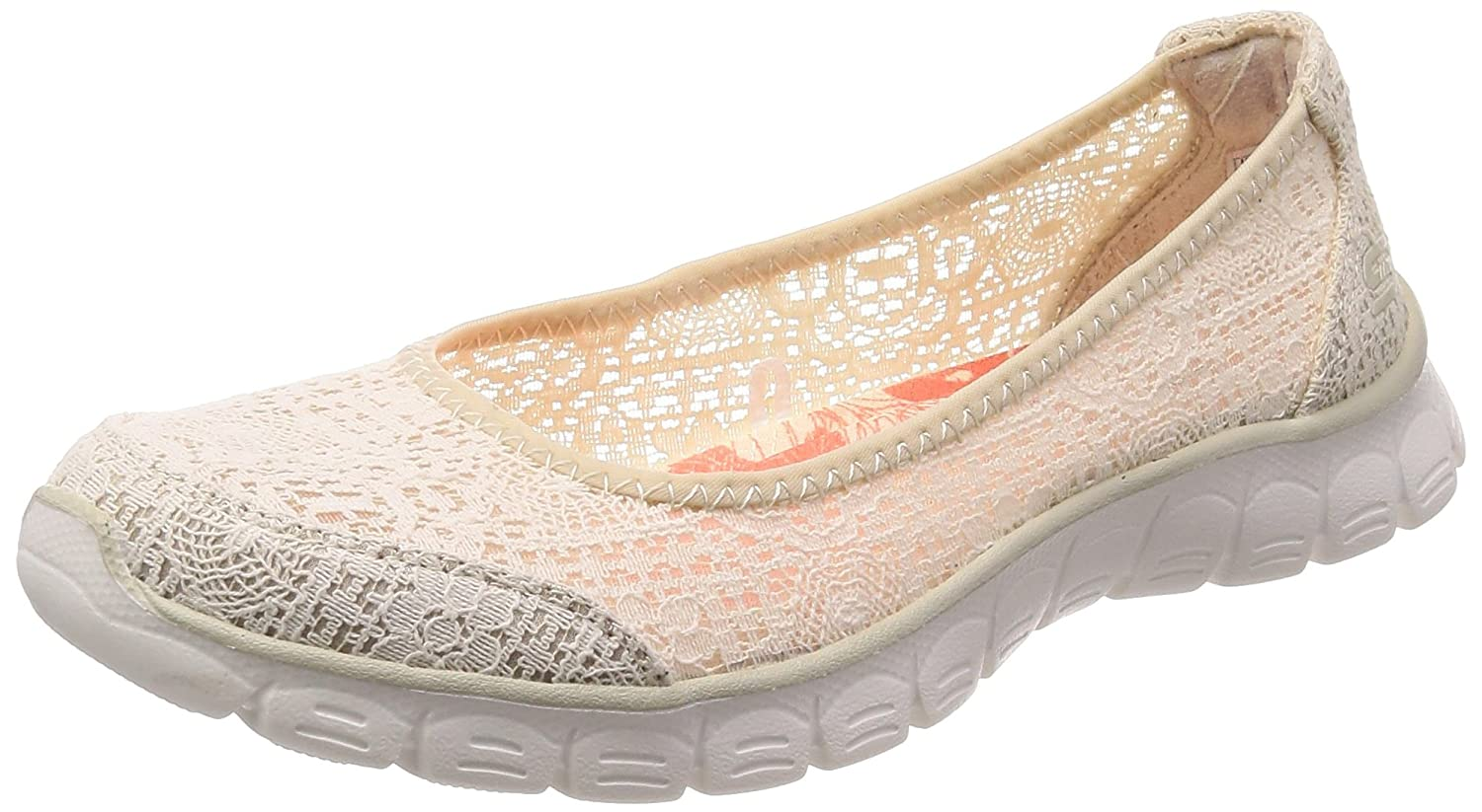 Skechers Damen Ez Flex 3.0-Beautify Geschlossene Ballerinas, Rose  41 EU|Beige (Natural)