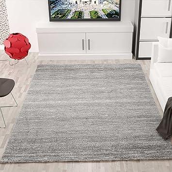 Moderner Wohnzimmer Teppich Meliert Kurzflor, OEKO TEX Zertifiziert ...