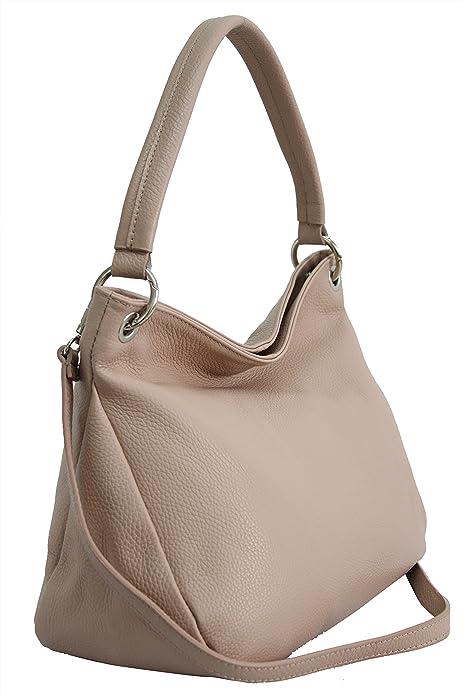 0a1b1a28853 AMBRA Moda GL002 - Bolso de hombro de Cuero Mujer  Amazon.es  Zapatos y  complementos