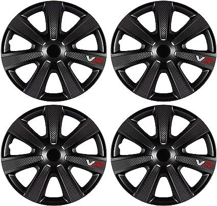 UKB4C Set of 4 Wheel Black Trims//Hub Caps 15 Covers fits Citroen C3,C4,C5,Picasso