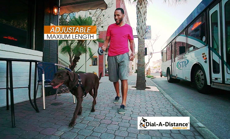 Dial A-Distance Retractable Dog Leash