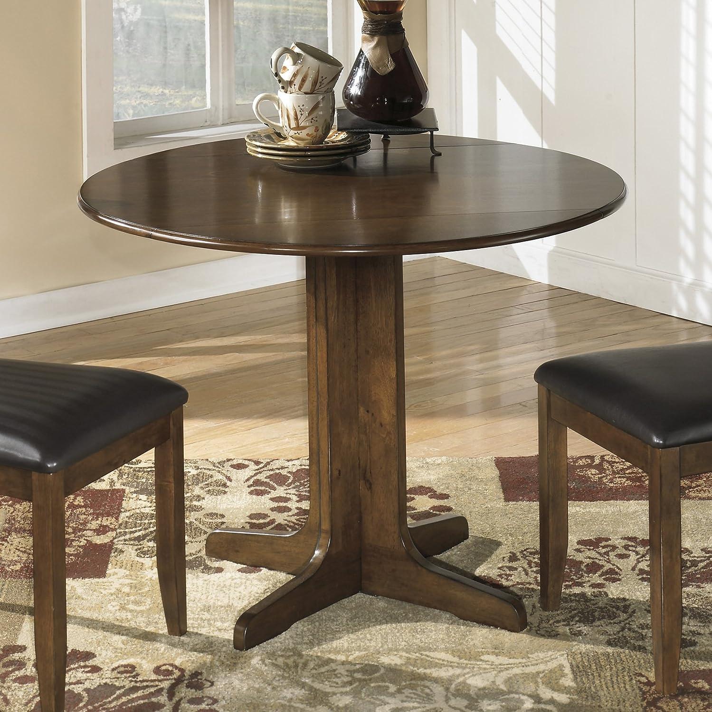 Stanman Medium Brown Round Drop Leaf Table