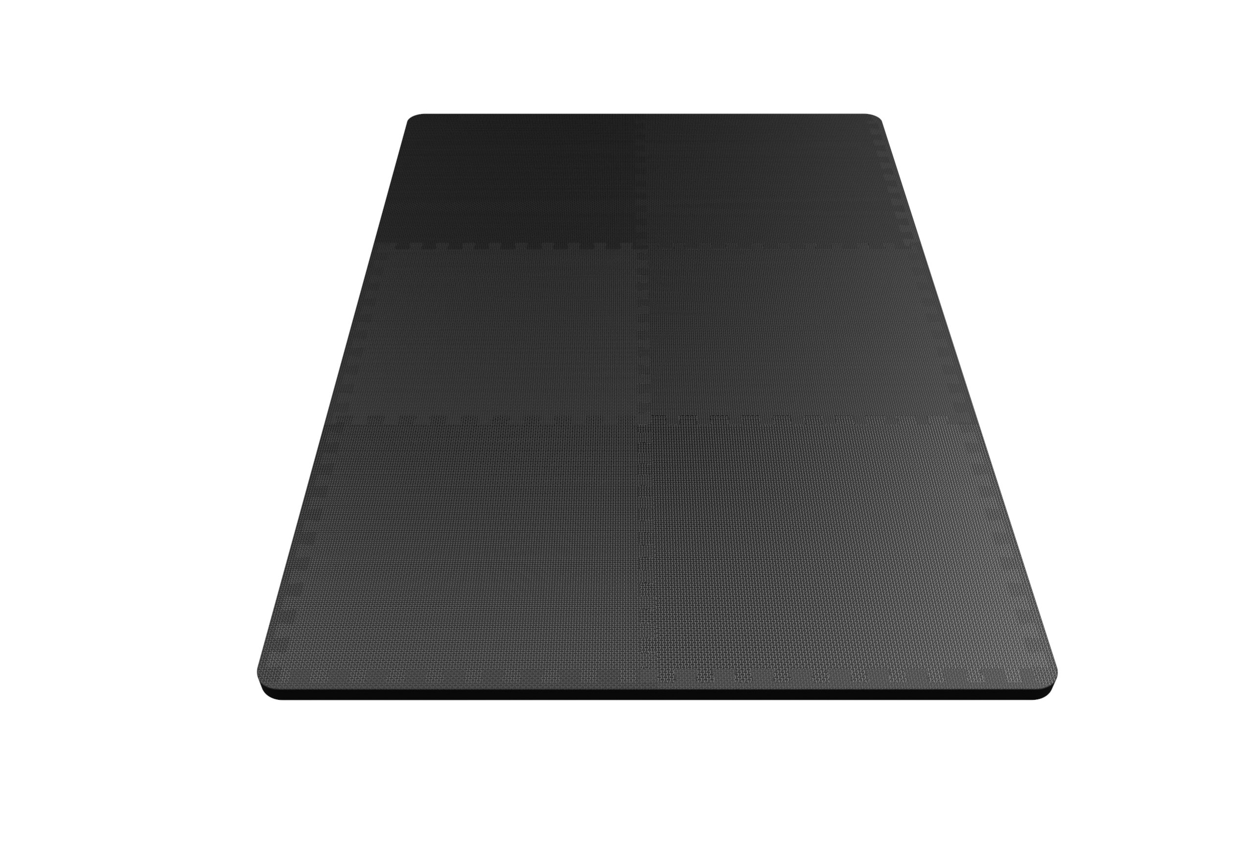 LEVOIT Puzzle Exercise Floor Mat for Gym Equipment, EVA Foam Interlocking Tiles, Protective Flooring for Working Out, Easy Assembly, 24 SQ FT (6 Tiles, 12 Borders), Black by LEVOIT (Image #8)