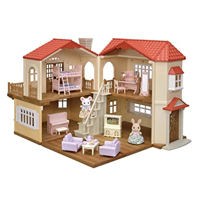 EPOCH [.co.jp Limited] Sylvanian Families red roof Big House Deluxe - Friends Girl Set -: Toys & Games